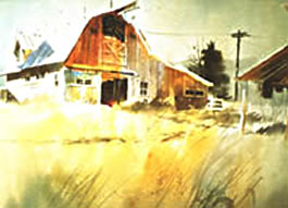 Painting Barns in Watercolor Instructional Video or DVD by watercolor painting artist Tony Couch. Tony Couch has 10 watercolor and art instruction videos, several books on watercolor painting and teaches watercolor workshops across the U.S. and abroad